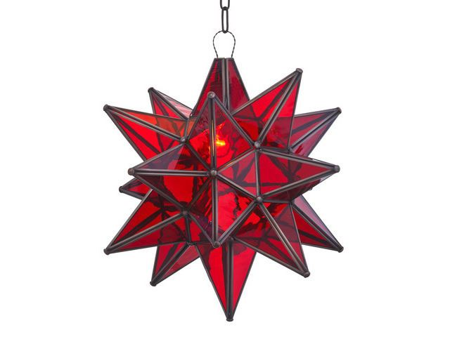 Picture of Pendant Light | Star Iron and Glass