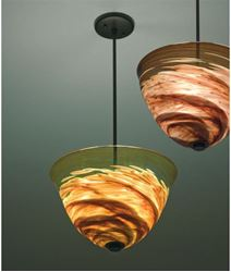 Picture of Agua Viva Blown Glass Pendant Light