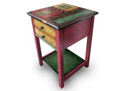 Hand Painted End Table 3