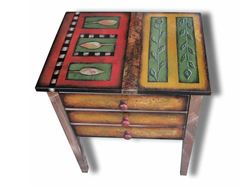Picture of Hand Painted Side Table 1