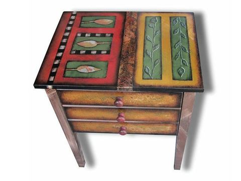 Hand Painted Side Table 1
