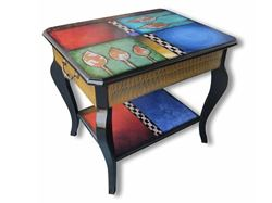 Hand Painted Side Table 2
