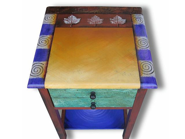 Picture of Hand Painted End Table 2