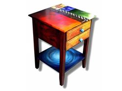 Hand Painted End Table 4