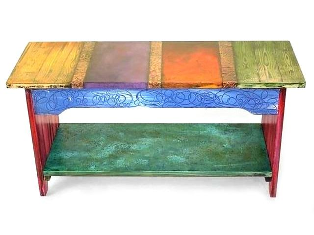 Picture of Hand Painted Bench
