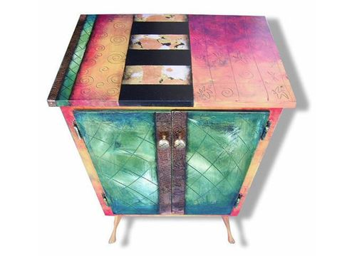 Hand Painted Cabinet 4