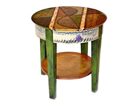 Hand Painted End Table 6