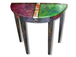 Hand Painted Console Table 2