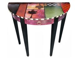 Hand Painted Console Table 1