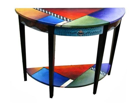 Hand Painted Console Table 3