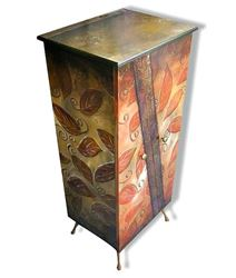 Tall Hand Painted Cabinet 1