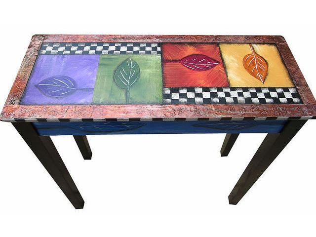 Picture of Hand Painted Entry Table 2