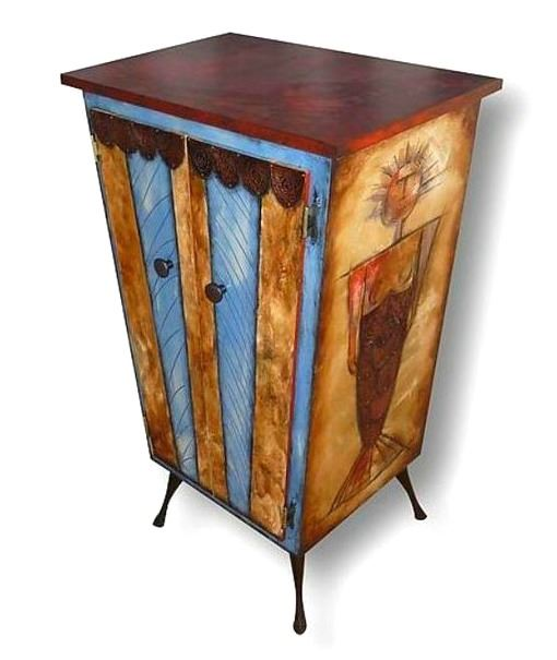 Picture of Tall Hand Painted Cabinet 3