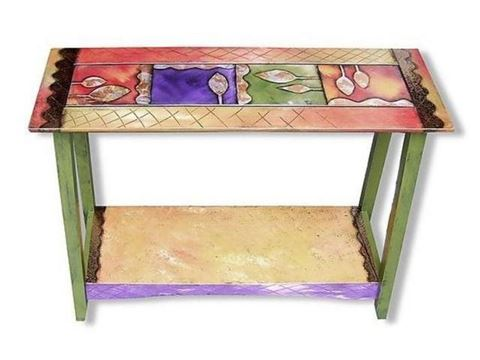 Hand Painted Entry Table 1