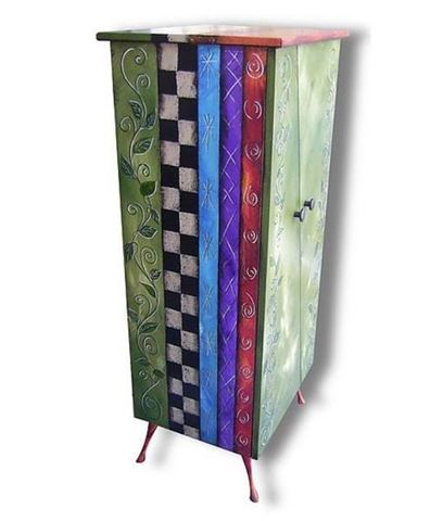 Tall Hand Painted Cabinet 2