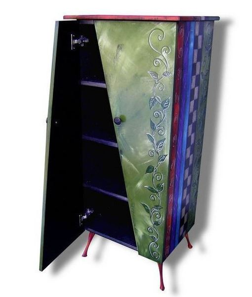 Picture of Tall Hand Painted Cabinet 2