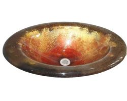 Paradiso Round Self-Rimming Glass Sink