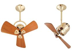Bianca Ceiling Fan in Polished Brass