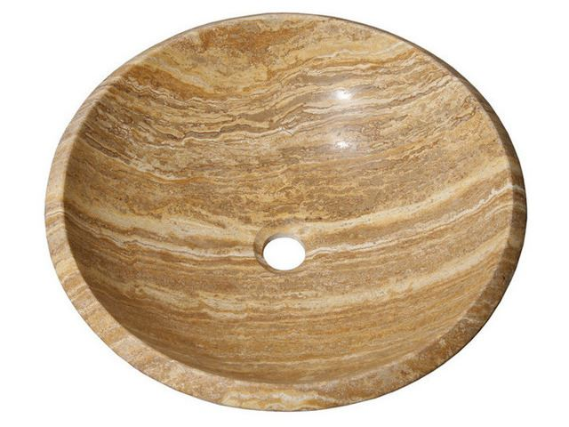 """Picture of 17"""" Round Stone Vessel Sink"""