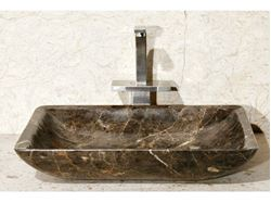 "20"" Rectangular Stone Vessel Sink with Rounded Walls"