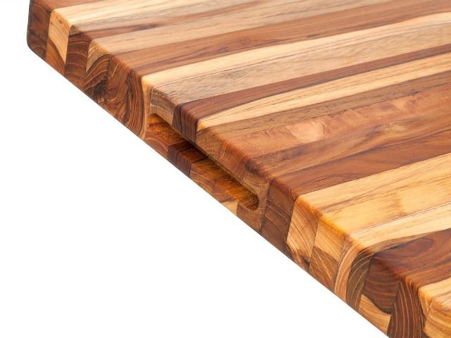 Picture of Edge Grain Rectangle Carving Board with Hand Grip
