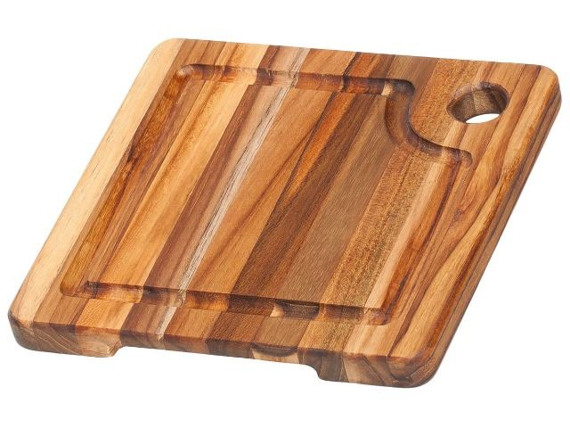 Picture of Teak Cutting Board - Edge Grain with Corner Hole & Juice Canal
