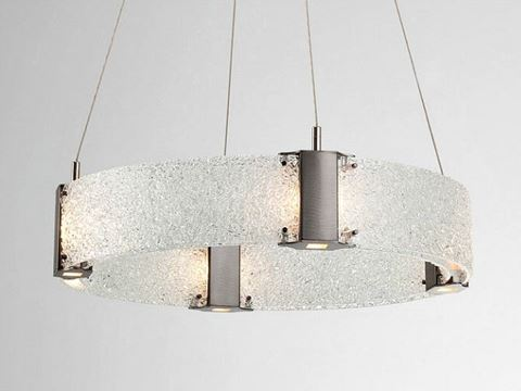 Parallel Collection Ring Chandelier