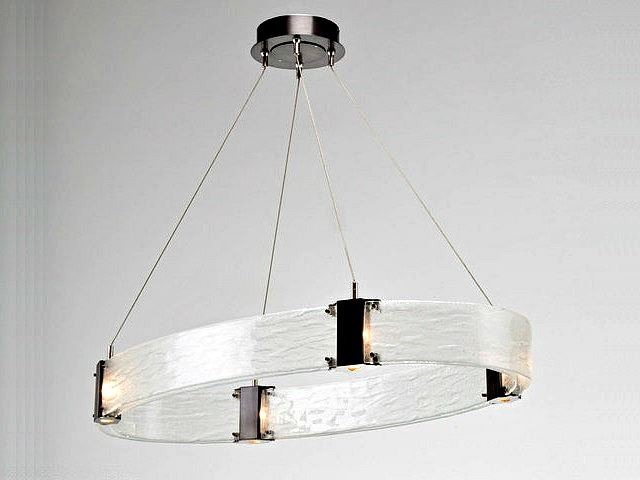 Picture of Parallel Collection Oval Chandelier