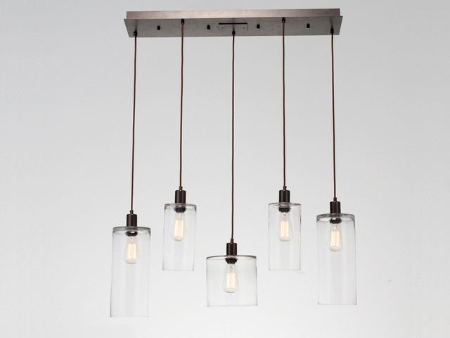 Picture of Linear Chandelier   Apothecary