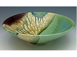 Watercolor Low Serving Bowl