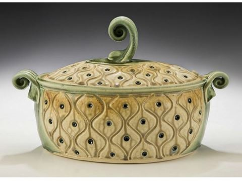 Oval Stoneware Casserole with Lid