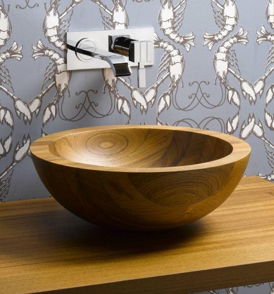 Picture of Helio Basin Teak Wood Vessel Sink