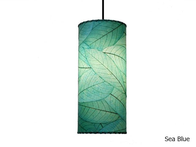 Picture of Pendant Light | Cocoa Leaf | Cylinder