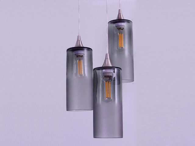Picture of Atmospheric Series Cylinder Pendant Chandelier 3 pc