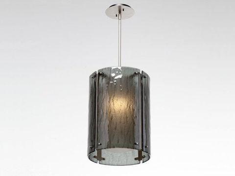 "Pendant Light | Oversized Textured Glass | 16"""