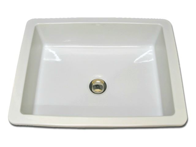 "Picture of Marzi 20"" Rectangular Ceramic Sink with Flat Bottom"