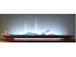 Picture of Blue Regatta Glasscape Lighting Sculpture