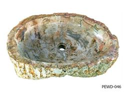 """Picture of Large Oval Petrified Wood Sink 22""""-27"""""""