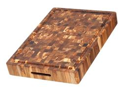 Picture of Large End Grain Rectangular Teak Wood Board with Hand Grips by Proteak