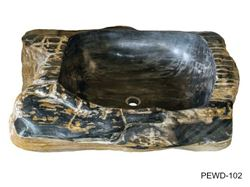 """Picture of X-Large Rectangular Petrified Wood Sink 26""""-33"""""""