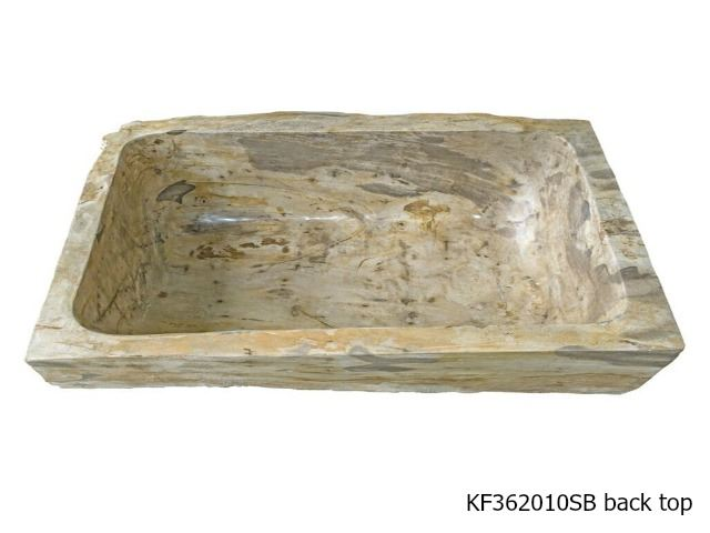 Picture of Petrified Wood Kitchen Farmhouse Sink