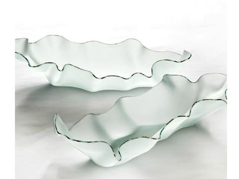 Hydra Frosted Glass Serving Dish