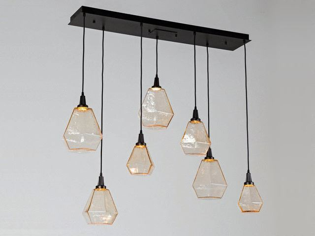 Picture of Linear Chandelier | Hedra | 7 pc