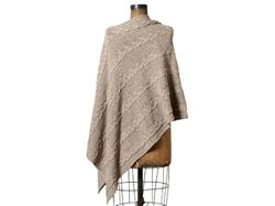 Eco Chunky Cable Poncho by In2Green