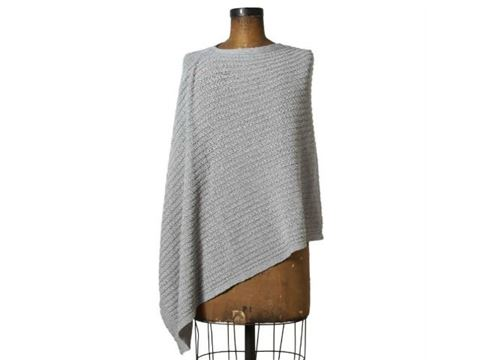 Eco Small Cable Knit Poncho by In2Green
