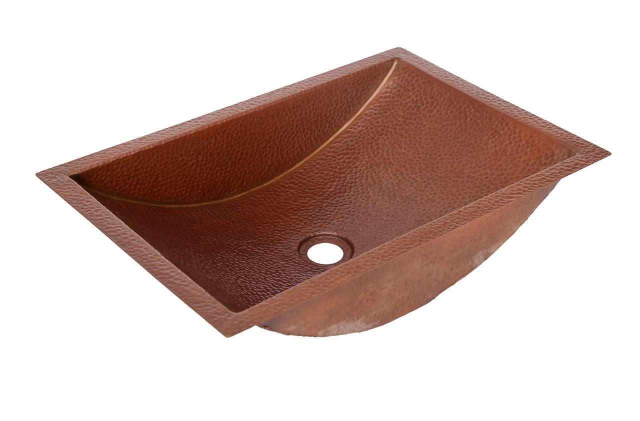 """20.5"""" Trough Copper Bathroom Sink by SoLuna"""