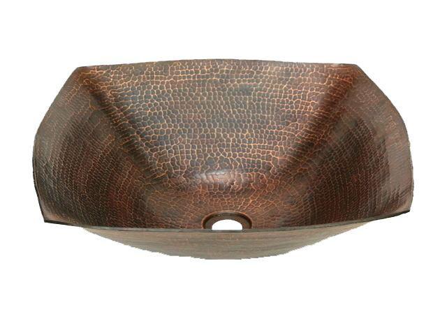 "Picture of 18"" Degas Copper Vessel Sink by SoLuna"