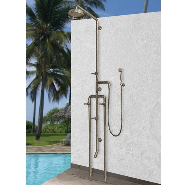 Picture of Sonoma Forge | Outdoor Shower | Waterbridge 1080 with Foot Wash & Handshower