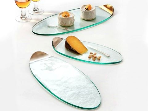 Mod Glass Cheese Board