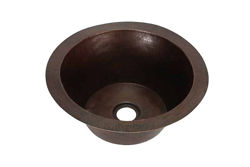 "Picture of 19"" Jumbo Round Copper Prep Sink by SoLuna"